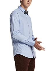 Scotch & Soda Longsleeve Classic Shirt In Cotton/Elastane Quality, Chemise de Loisirs Homme