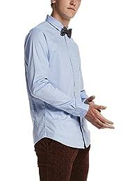 Scotch & Soda Herren Freizeit Hemd Longsleeve Classic Shirt in Cotton/Elastane Quality