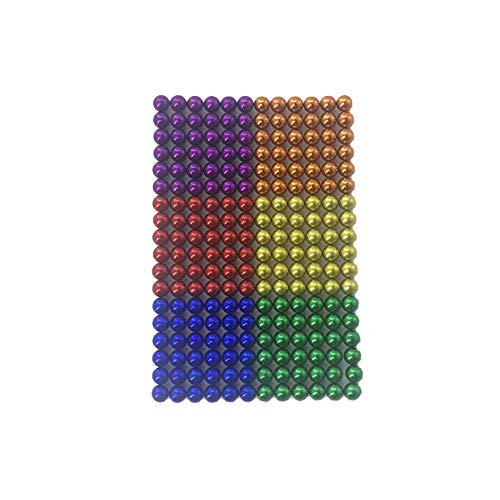 LaoSiJi Very Strong Magnet for Glass Magnet Plate, Magnetic Plate, whiteboard, Blackboard, Plug-in Board, Refrigerator, etc. - 5mm (216pcs), 6 Colors (Magnetic Glass Board)
