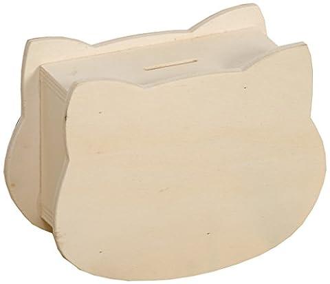 Artemio 14001241 Tirelire à Décorer Tête de Coque Bois Multicolore 15 x 6,3 x 10,5 cm