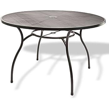 xl streckmetalltisch rivo 150cm rund eisengrau wetterfest. Black Bedroom Furniture Sets. Home Design Ideas