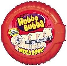 Wrigley's Hubba Bubba Snappy Strawberry 6 Feet Gum Tape, 56g