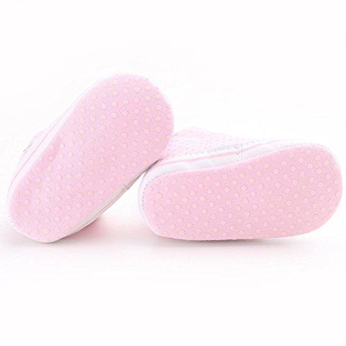 Tefamore Mädchen Canvas Schuh Baby Jungen Schuhe Sneaker Anti-Rutsch weiche Sohle Kleinkind Rosa
