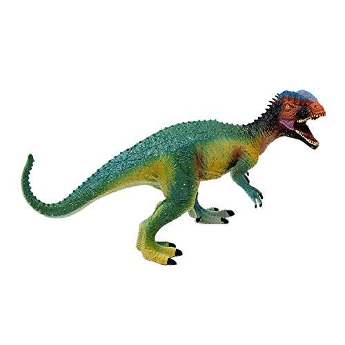 Smartcraft Dilophosaurus Raptor Dinosaur Action Figure Toy 8 Inch- Green, Realistically Detailed Animal Action Figure