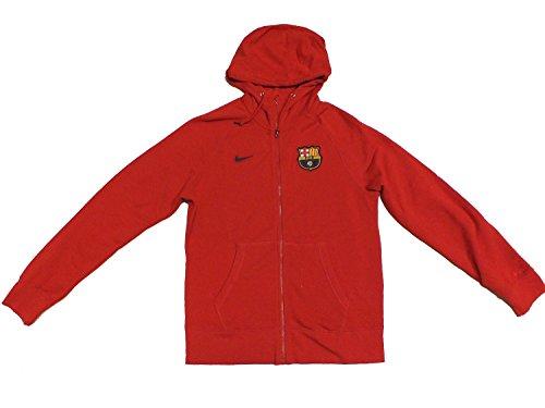Nike FCB BARCELONA Hoody Kapuzenjacke Zip Pullover 546794 Rot 657, Farbe:rot;Textilien Größen:XL (Barcelona Hoody)