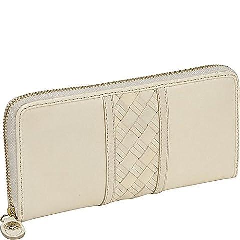 Cole Haan Heritage Weave Strip Travel Zip Women's Wallet (B33219) (Palomino) (One Size)