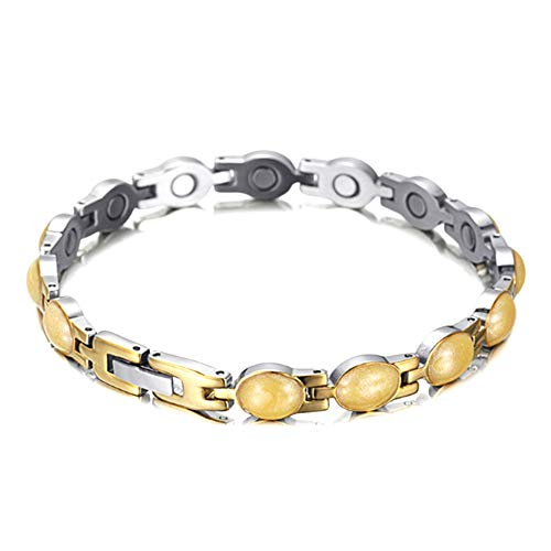 XINGYU Magnetarmband Damen Gesundheit,Titan Magnetfeldtherapie Armbänder für Arthritis Pain Relief schmuck Geschenk mit Free Link Removal Tool, Silver