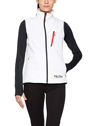 Fifty Five Damen Softshell Weste Outdoorweste Sophie Weiss 38 Windbreake Winddicht Atmungs