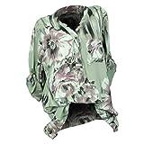 Luckycat Frauen Plus Größe Print V-Ausschnitt Button Langarm Bluse Pullover Tops Shirt Blusen Sweatshirt Oberteile Mode 2018