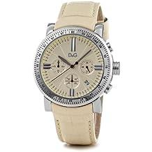 D&G Dolce&Gabbana DW0678 - Reloj analógico de mujer de cuarzo con correa dorada