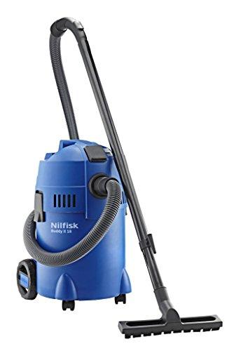 Nilfisk Buddy II 18 - Aspiradora en seco y húmedo, 1200 W, 18 l, color negro y azul