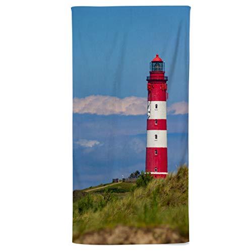 fotobar!style Handtuch 50 x 100 cm Amrumer Leuchtturm -
