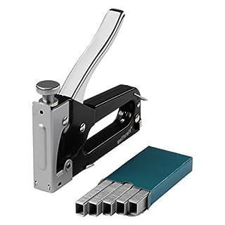 wolfcraft Tacocraft 5 Handtacker Set 7088000 | Kleiner Werkzeugtacker mit regulierbarer Schusskraft inkl. 1000 8mm Klammern | Ideal für Arbeiten im Haushalt und zum Basteln