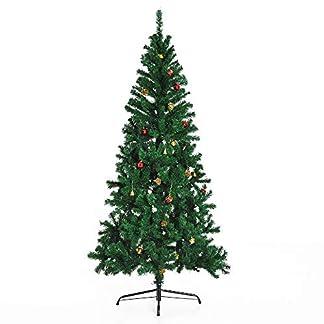 HOMCOM-Tannenbaum-Tanne-Dekorationen-inklusive-180-x-106-cm-624-Zweige-PVC-grn