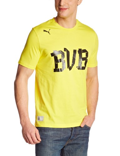 PUMA Herren T-Shirt BVB Fan blazing yellow-black