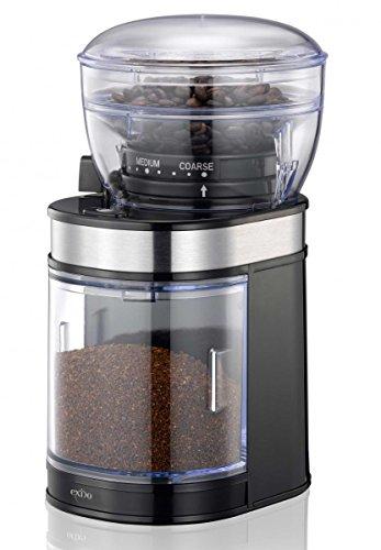 Exido Elektrische Kaffee-Mühle mit Keramik-Mahlwerk, 80g-Bohnenbehälter und 150 Watt-Motor für Espresso, Filterkaffee thumbnail