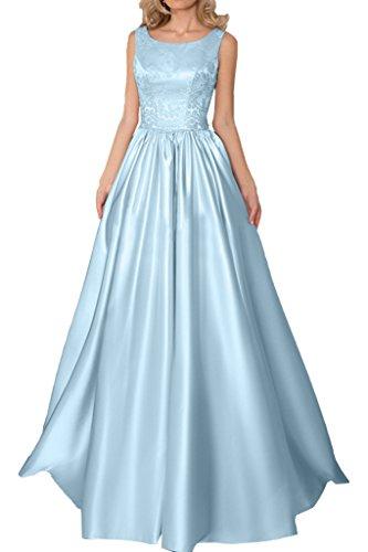 Promgirl House Damen Hochwertig Spitze A-Linie Abendkleider Ballkleider Cocktail Hochzeitskleider Lang Blau
