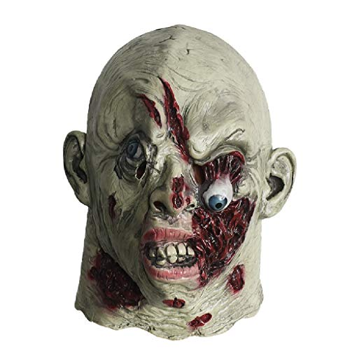 TcooLPE Walking Dead Vollkopf Maske, Resident Evil Monster Maske, Zombie Kostüm Party Latex Maske for HalloweenDecaying Zombie , mit Maske for Halloween - Zombie Künstler Kostüm