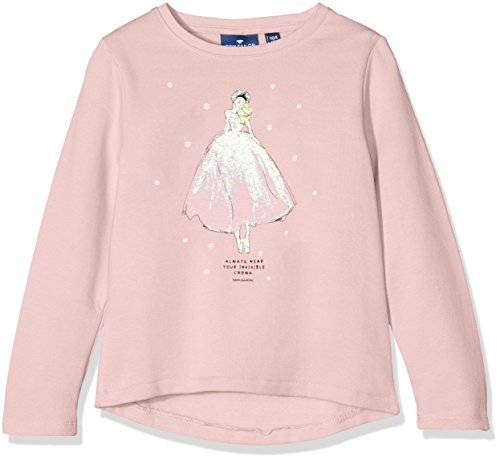 TOM TAILOR Kids sweater with ice princess, Felpa Bambina, Rosa (twinkle pink), 110 (Taglia Produttore: 104/110)