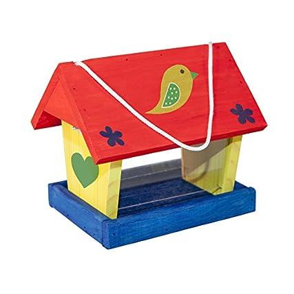 Windhager Cibo Kit Alimenti Woodpecker, casa, silo per Uccelli, Inclusi Modelli e Colori, Beige, 06945
