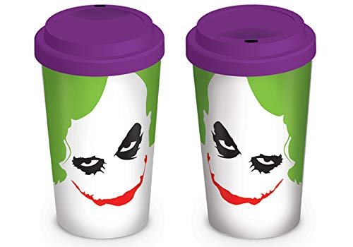 The Dark Knight MG22981 - Vaso de Transporte (cerámica), diseño del Joker - Taza de Viaje Batman Joker