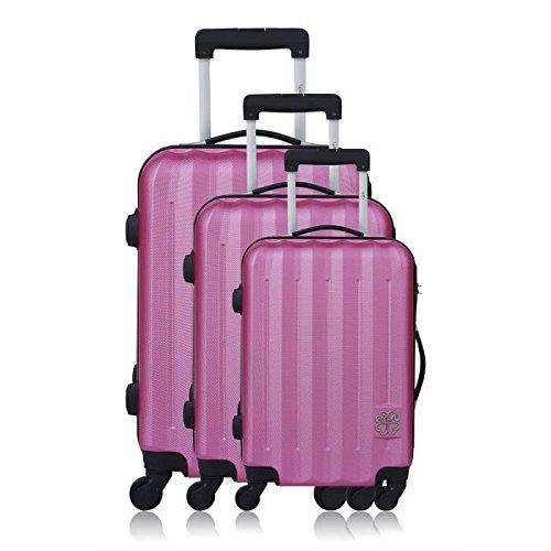 Les P'tites Bombes Set di valigie, Rose (rosa) - BD-12153