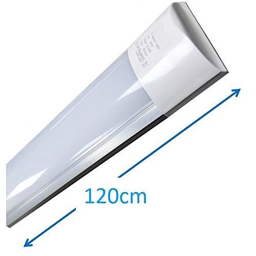 Led Atomant Luminaria T8 integrado 120cm 40w. Color blanco neutro 4500K, equivalente a 2 tubos fluorescentes 3300lm. Regleta led slim, 40 W, 120 cm