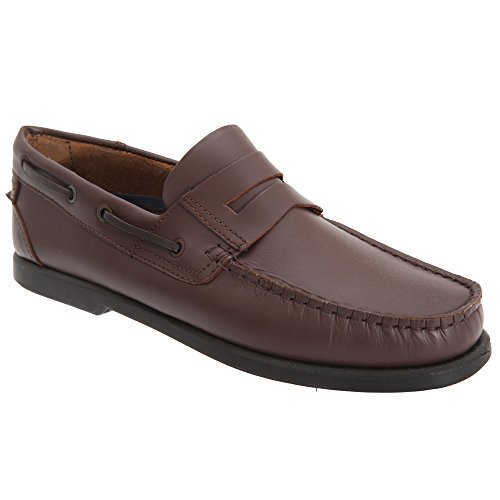 Dek Herren Leder Schuhe Dunkelbraun