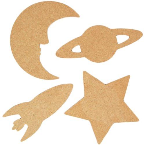 country-love-crafts-sagome-in-legno-da-colorare-tema-spazio-4-pezzi-colore-marrone-chiaro
