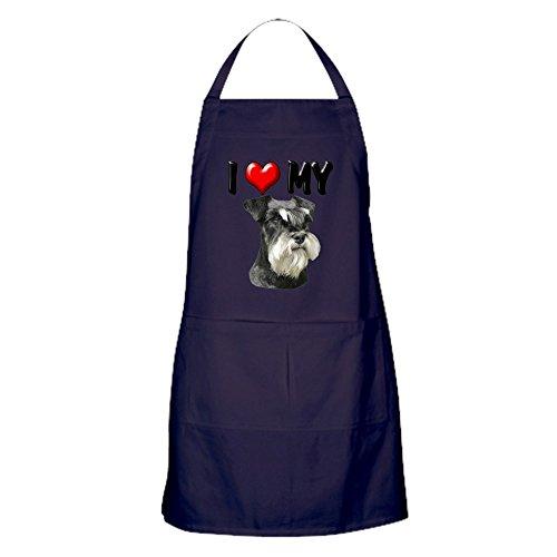 CafePress–I love my Miniature Schnauzer–Küche Schürze mit Taschen
