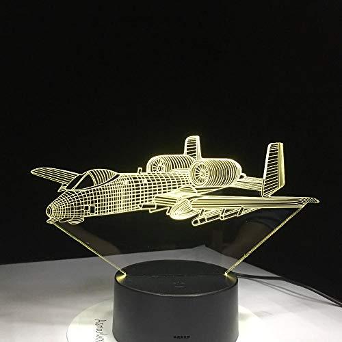 Kriegsflugzeug Fliegen Flugzeug Schreibtischlampe Baby Schlafzimmer Schlaf Leuchte Dekor Geschenke 7 Farben Ändern Luminaria -