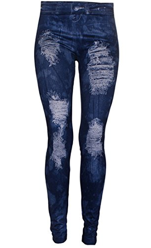 Ostenx Jeggings Pantaloni Leggings di donne di Jean Slim Collant Pantaloni Leggings, Pantaloni Denim vita alta elastico Jeans Collant - Blau F56
