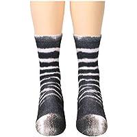 Ndier Patrón 1 par Creativo impresión en 3D Patas de los Animales Calcetines Unisex Humor Infantil de algodón Calcetines Cebra