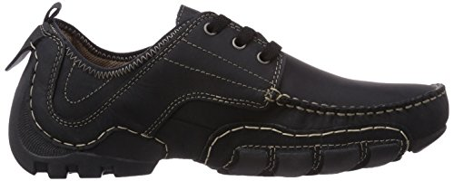 Dockers by Gerli 20ay003-400100, Derbies à lacets homme Noir (Schwarz 100)