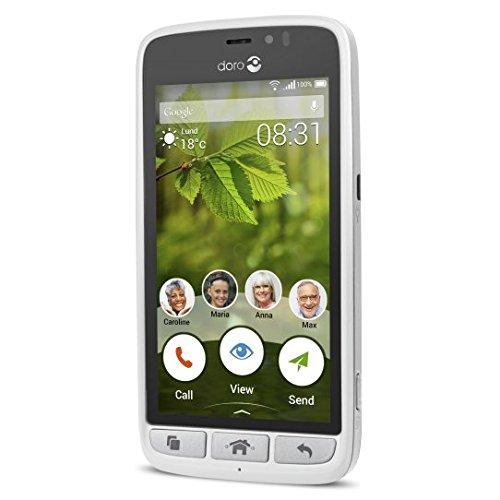 Doro Liberto 8031 8GB Color blanco - Smartphone (Android, MicroSIM, GPRS, GSM,...