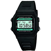 Casio Classic Men's Watch in Resin/Stainless Steel with Daily Alarm and Automatic Calendar - Water Resistant