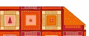 Ursus cartulina Invierno Mágico Naranja/Rojo, 300g/m², DIN A4, 10Hojas