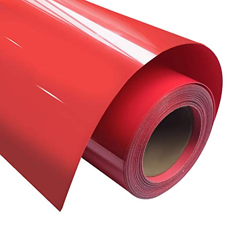 HTV 0,8 x 3,6 m PU Heat Transfer Vinyl Rolle für T-Shirts, Kleidung, Taschen und andere Stoffe von Plotter Cutter rot