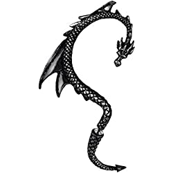 Alchemy Gothic Señuelo Del Dragón Negro Oído Del Abrigo