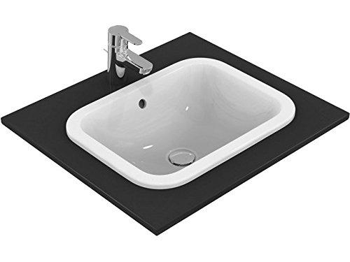 Ideal Standard anschließen Arbeitsplatte Becken E5055MA, 420x 350x 175mm rechteckig mit Überlauf weiß mit Ideal Plus