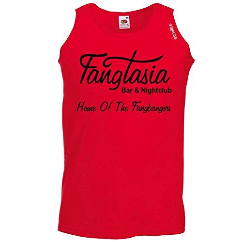 Fangtasia-True Blood Style-Herren Lustige Sprüche coole funTrägershirt-RED-BLK-M (Tee Red Jugend-true)