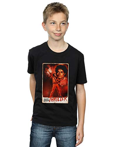 Absolute Cult Michael Jackson Niños Thriller Stance Camiseta Negro 7-8 Years
