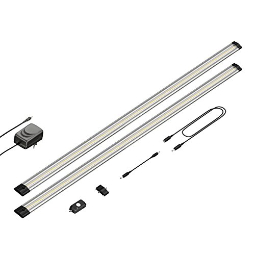 parlat LED Unterbau-Leuchte Siris, Bewegungsmelder, flach, je 90cm, 800lm, warm-weiß, 2er Set