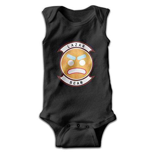 Kinder Baby Mädchen Jungen Sommer T-Shirt Lazarbeam T Shirt Shirts Für Kleinkind Mädchen Jungen Ärmellose Schwarz 0-3 Mt Solid-footed Sleeper Pajamas