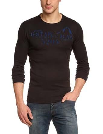 G-STAR Herren T-Shirt Coronet r t l/s - 84026A.1141 Schwarz (black 990) XS