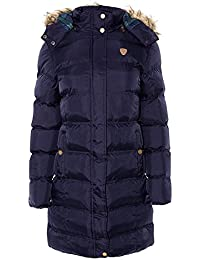 Womens Brave Soul Long Fur Trimmed Hooded Padded Puffer Parka Winter Jacket Coat