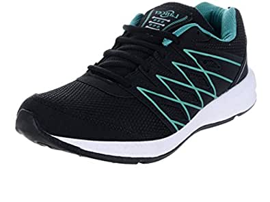 Lancer Men's Black Green Mesh Running Shoes (10 Uk)