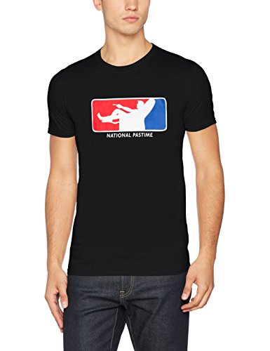 FM London Herren T-Shirt Printed Design Black (National Past Time)