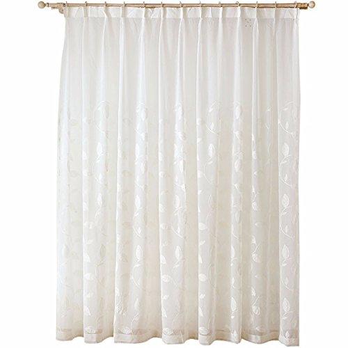 Qpggp tende biancheria intima bianca in lino tinto tendaggio semi-blackout tende soggiorno camera da letto, 200 x 270 cm (l x h) × 2