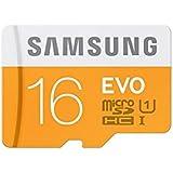 Samsung Memory 16GB Evo MicroSDHC UHS-I Grade 1 Class 10 Memory Card with SD Adapter
